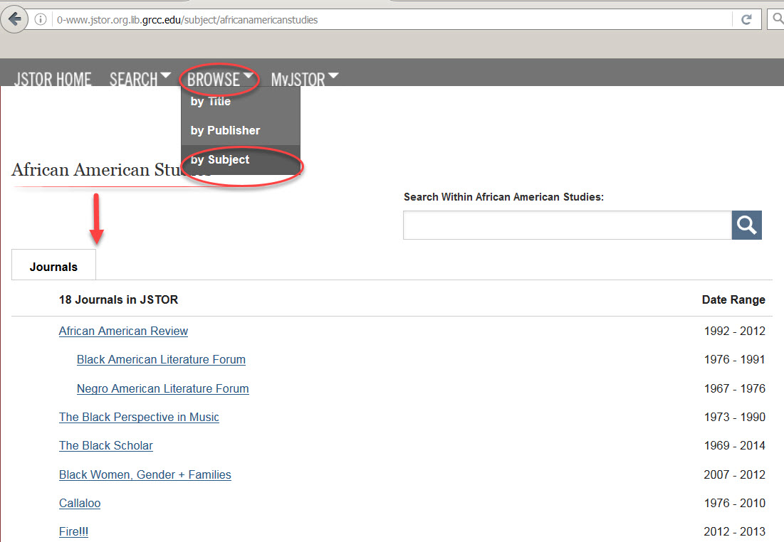 JSTOR collection linking