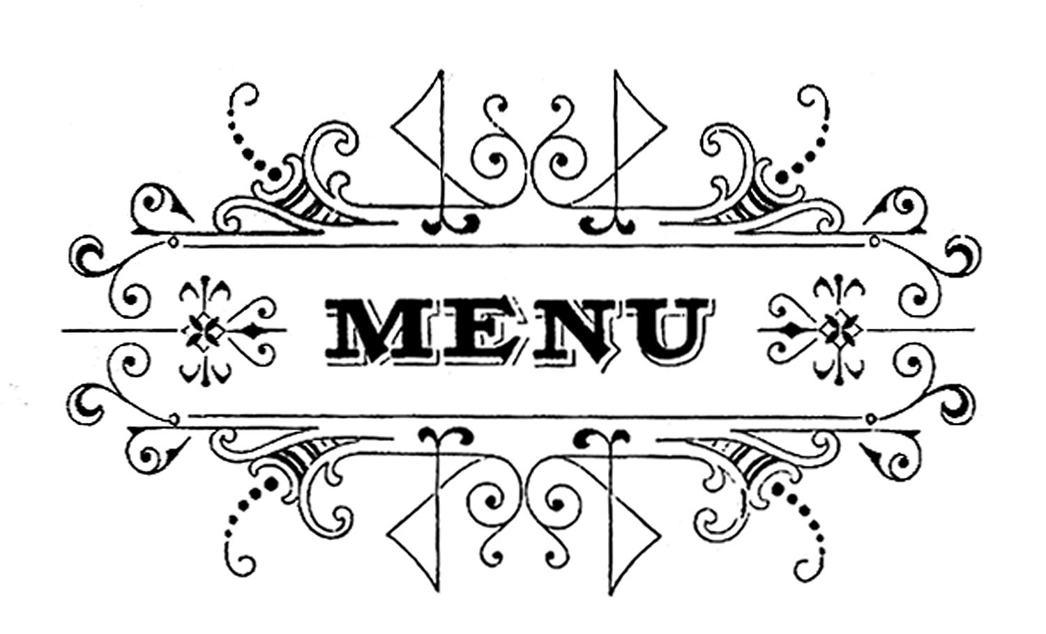 menu graphic