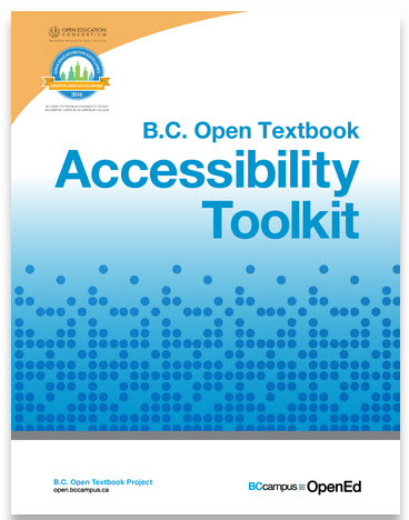 BC Open Textbook Accessibilty Toolkit Cover