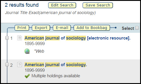 qcat record for journal search