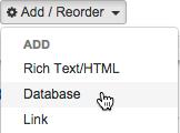 Adding a Database asset.