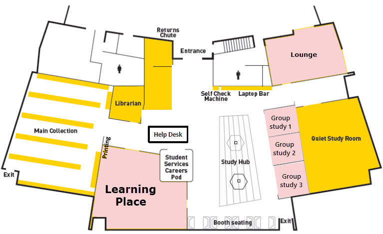 Fraser Coast library floor plan