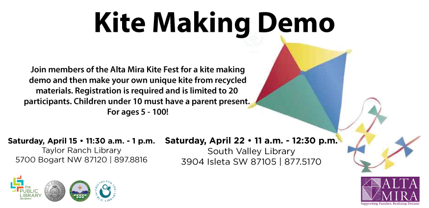Alta Mira kite making Workshops