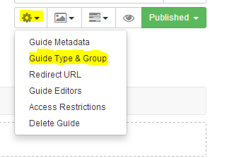 "LibGuides ""Guide Information"" tool"