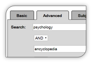 Library catalog advanced search
