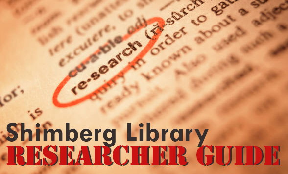 Shimberg Library Researcher Guide