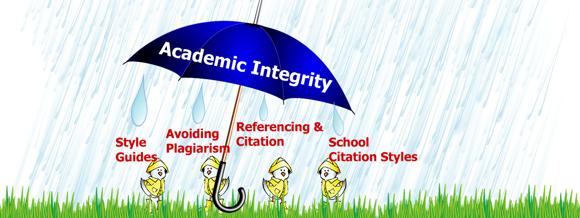 Use academic integrity as your umbrella