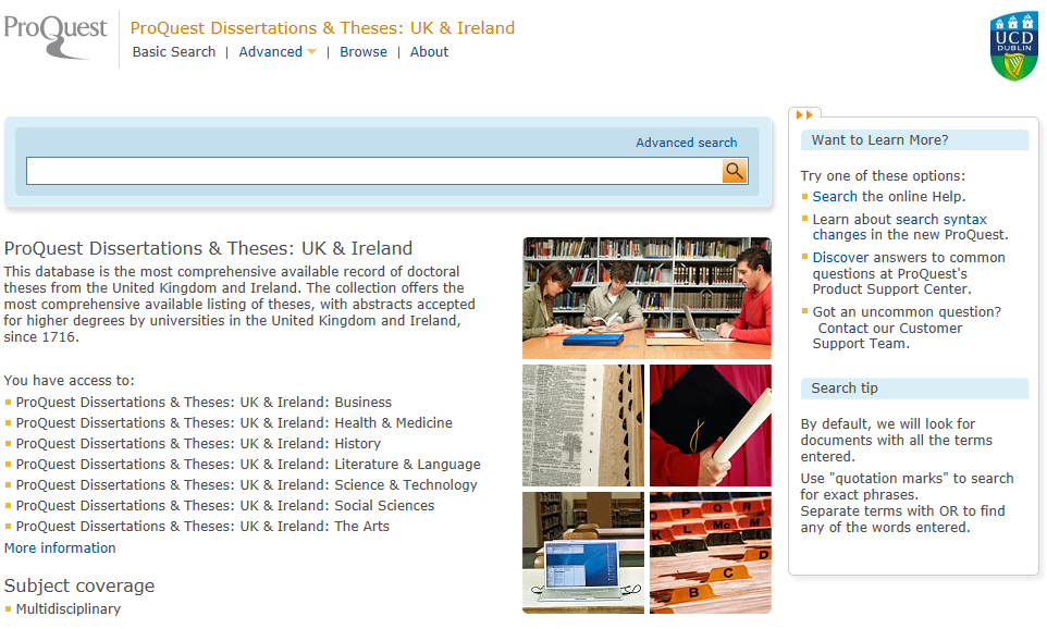 digital dissertations and theses database