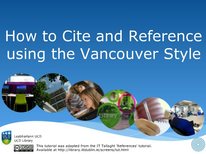 adelaide university vancouver referencing guide