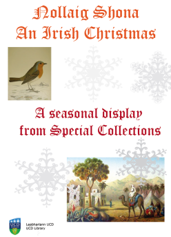 Happy Christmas from UCD Special Collections!