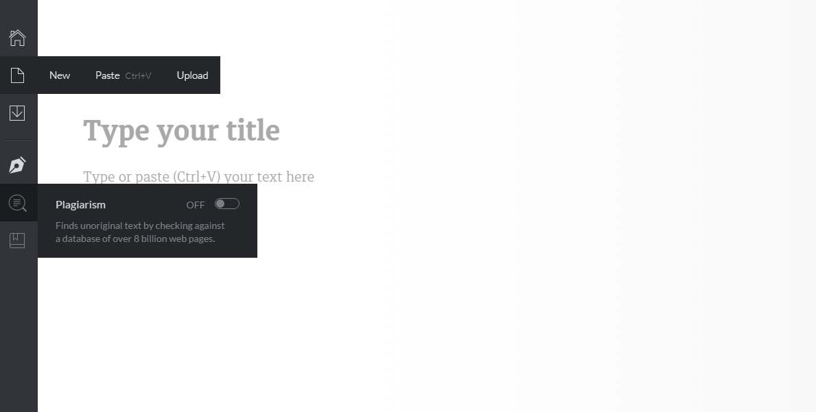 screen shot of grammarly log in page