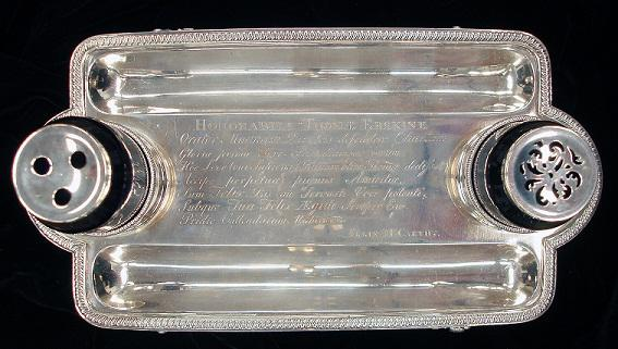 Inkstand inscription