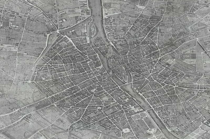 Photo of an old map