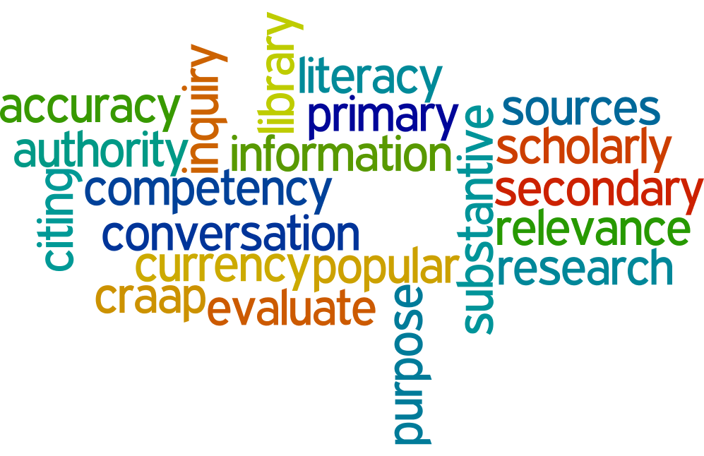 Information Literacy wordle image