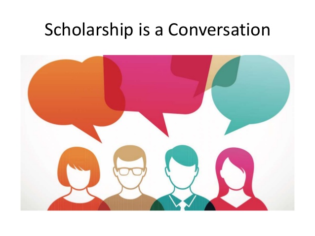 Scholarship is a Conversation
