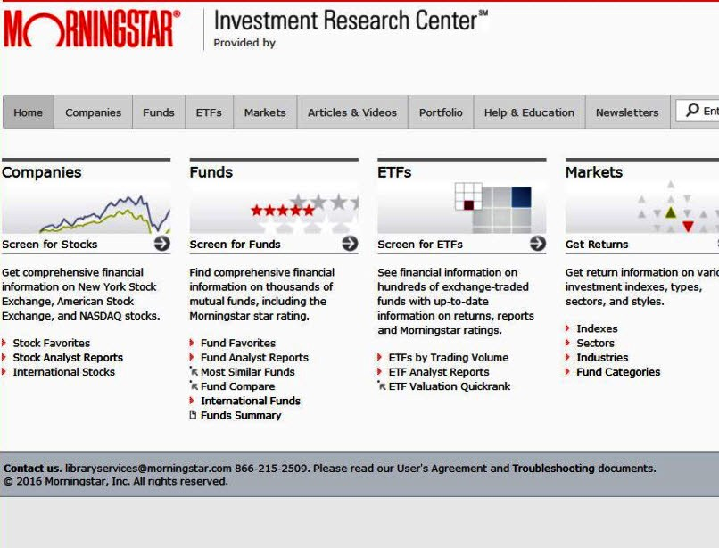 About About Morningstar Research Portal at Arlington Public – Mutual Fund Analyst