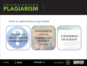 Understanding plagiarism tutorial screenshot