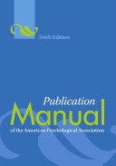 APA Publication Manaul