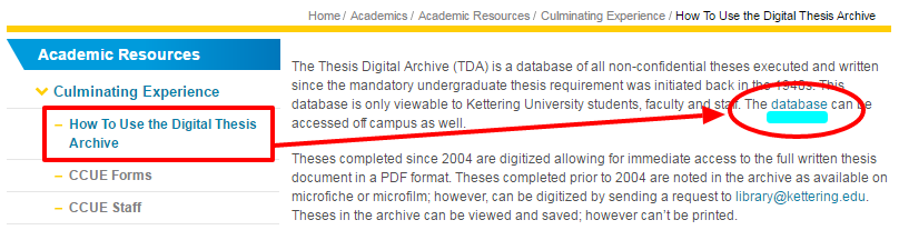 thesis archive