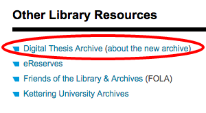 digital thesis archive