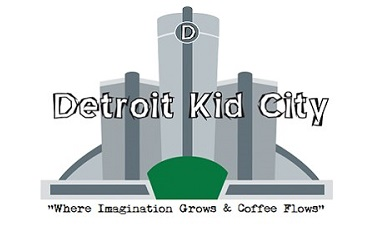 The Detroit Kid City logo, which includes buildings and the company name.