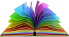 a book with rainbow colored pages
