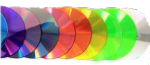 DVD in rainbow colors
