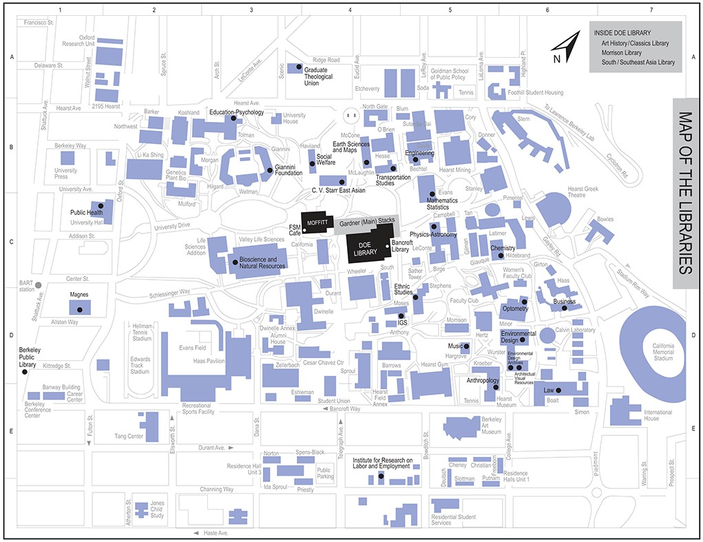 small campus map that is linked to PDF