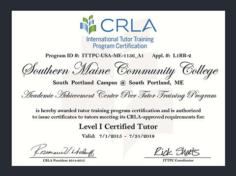 CRLA certificate photo and link to CRLA page