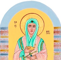 Image of St. Brigid of Ireland from Charter