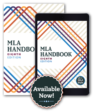 MLA 8th edition Handbook book cover and ebook cover Available now