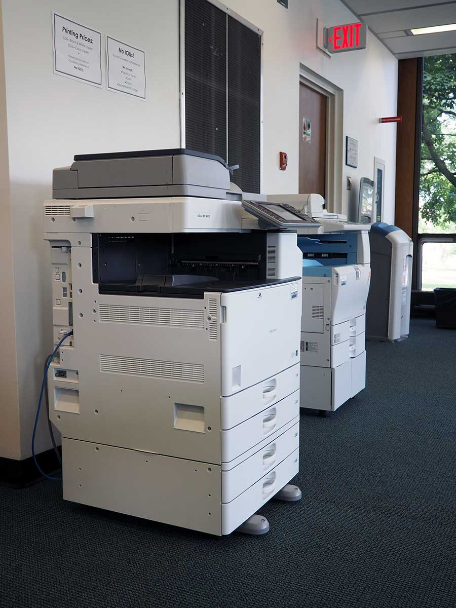 Library copy machines for printing, scanning, and copying