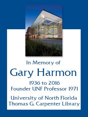 bookplate in memorial for Gary Harmon