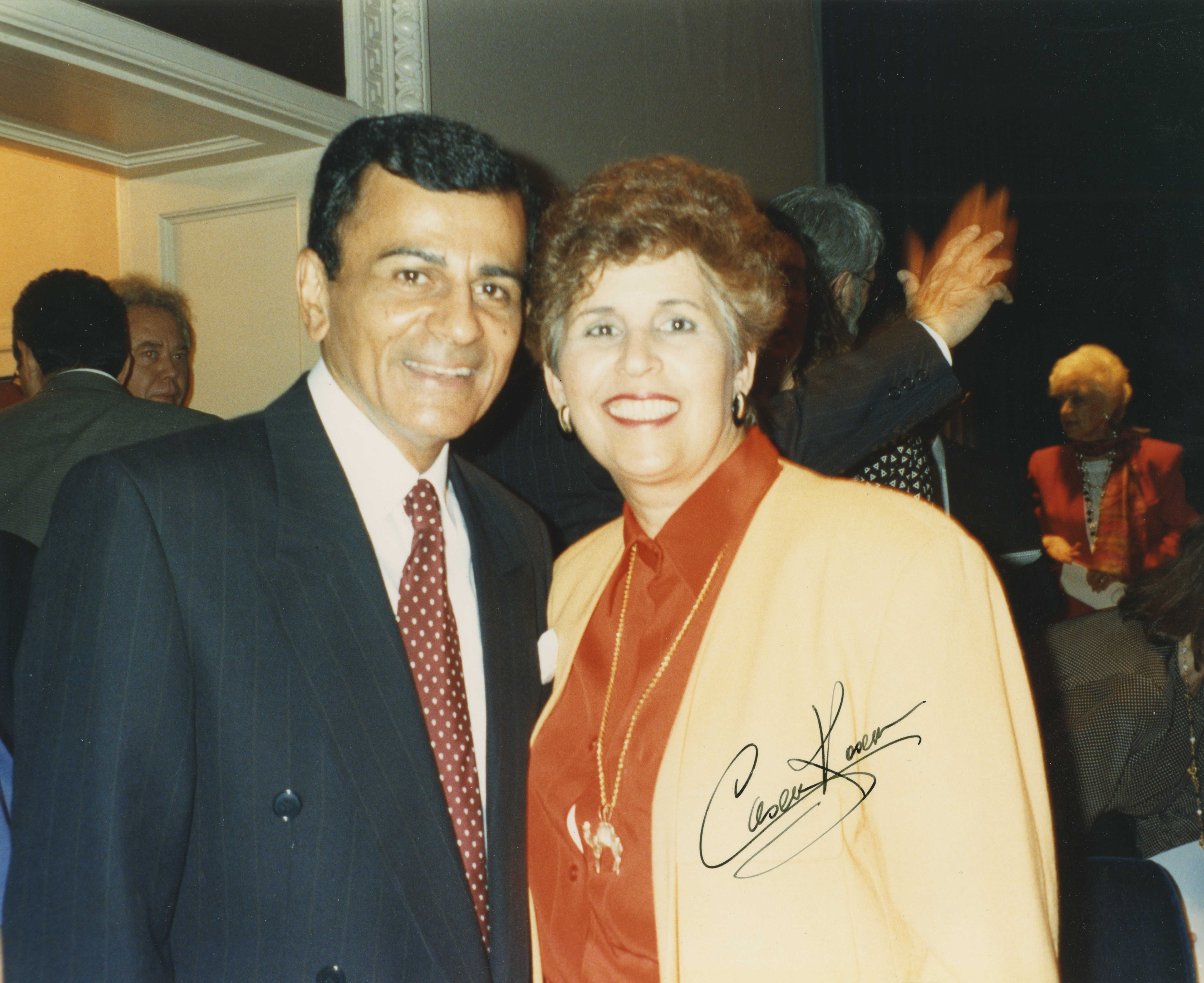 Dr. Edna Saffy with Casey Kasem