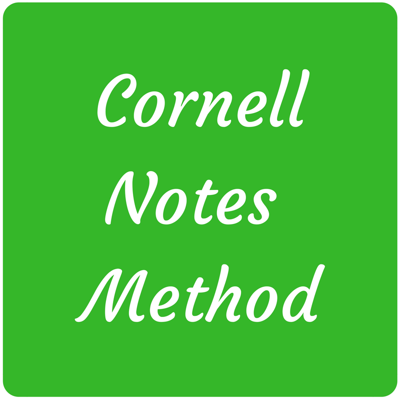 Icon and link to cornell notes page