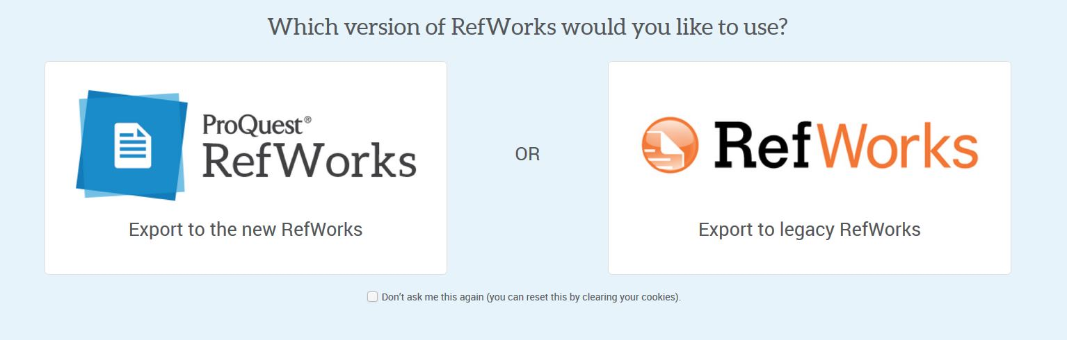 Logo comparison for RefWorkd Legacy and New RefWorks