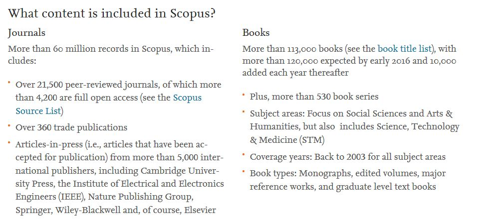 what is in scopus