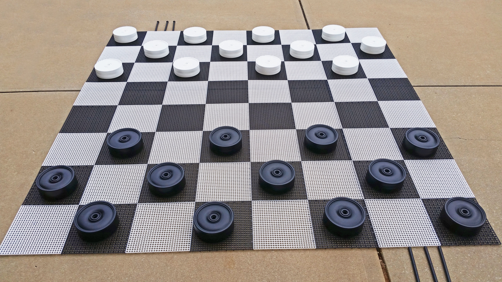 Giant Outdoor Checkers
