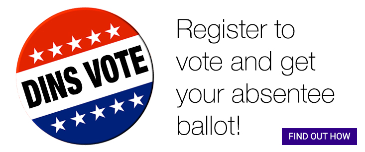 Register to vote and get your absentee ballot