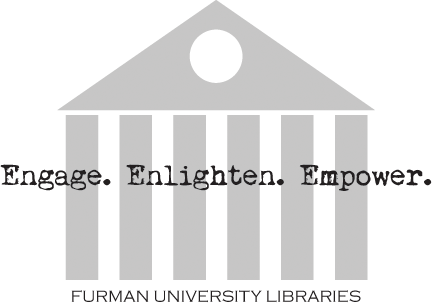 Logo reading: Engage. Enlighten. Empower. Furman University Libraries