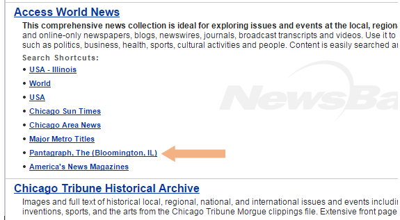 Click to search specific newspapers in specific geographic areas