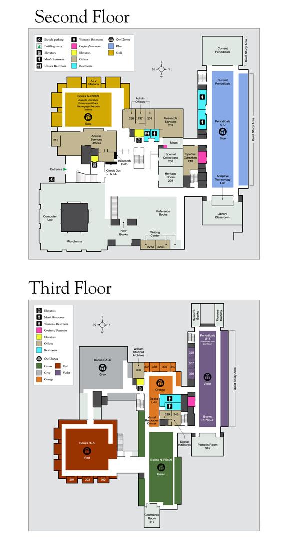Home - Floor Maps - Watzek Library at Lewis & Clark College