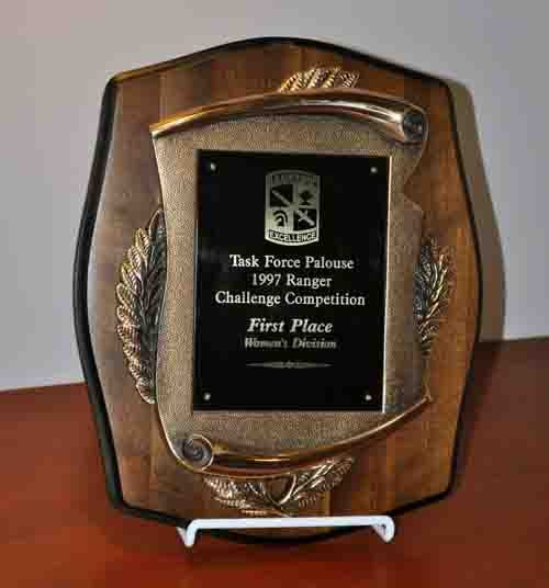 Task Force Palouse Ranger Challenge Competition First Place Women's Division Trophy, 1997