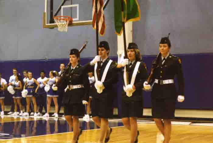 Color Guard in Martin Centre, 2000