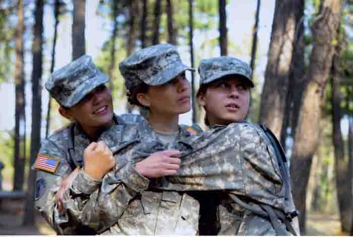 Three Cadets at Ropes Course, 2008 – 2009