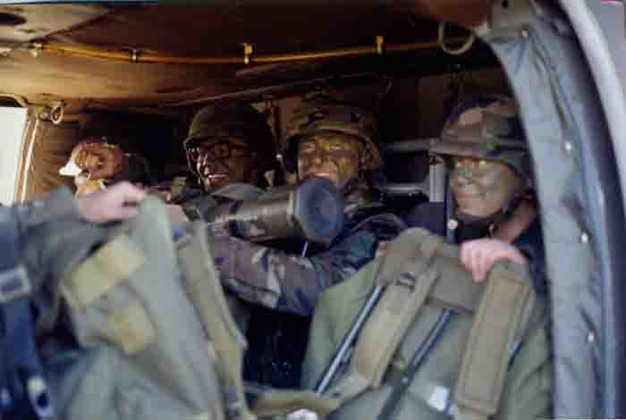 Cadets in a Blackhawk Helicopter, 2002