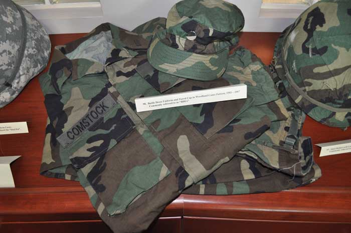 Battle Dress Uniform and Patrol Cap in Woodland Camo Pattern, 1983 – 2007