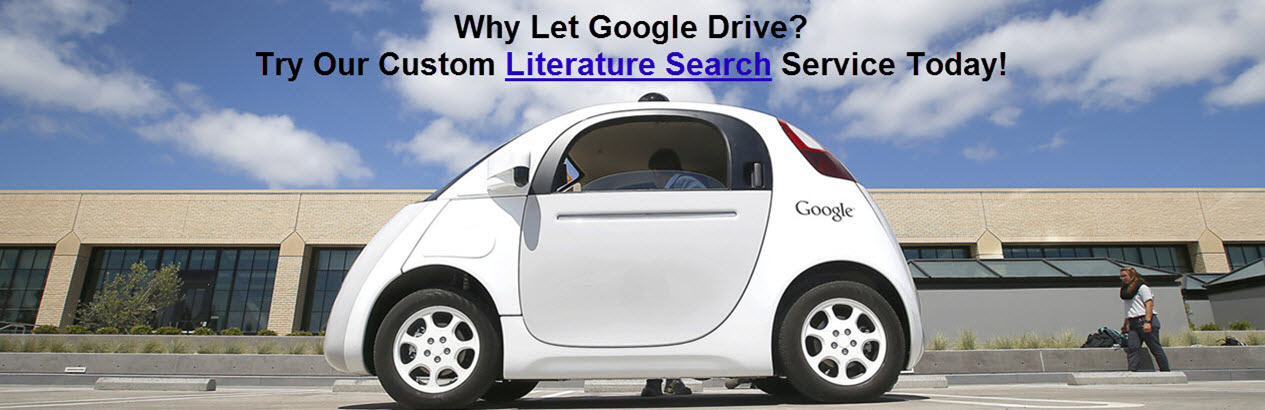 Image showing a google car with the caption