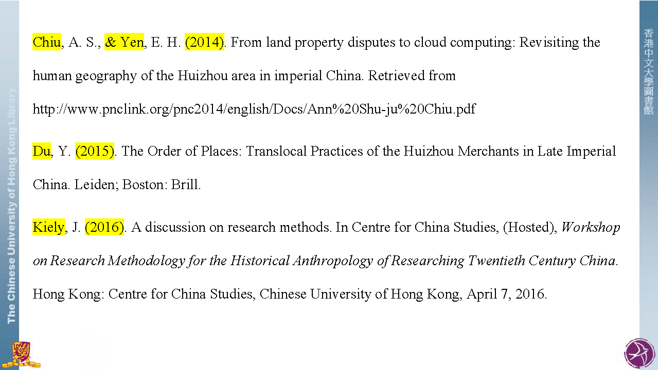Apa Style Citation Styles Libguides At The Chinese University How To Cite A  Book Chapter Vancouver