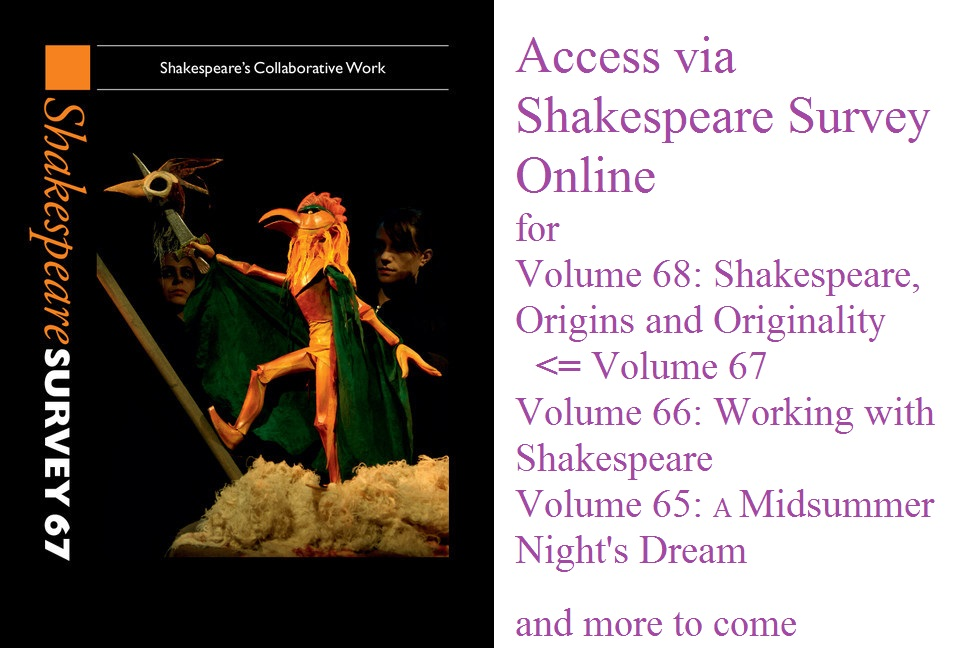 Shakespeare Survey 67